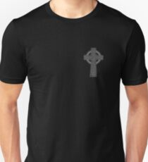 Celtic High Cross Greyscale Unisex T-Shirt