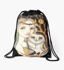 Night Watch Drawstring Bag