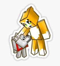 Stampy cat stickers redbubble stampy and gregory the dog sticker altavistaventures Images