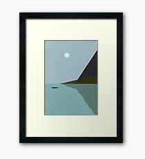 Sailing at night Framed Print