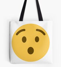 Hushed face emoji Tote Bag