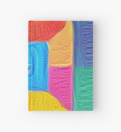 DeepDream Color Squares Visual Areas 5x5K v14 Hardcover Journal