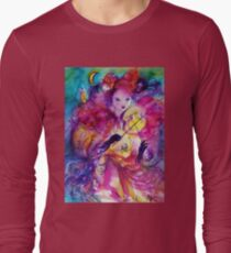 MASQUERADE NIGHT Carnival Musician in Pink Costume Long Sleeve T-Shirt