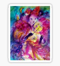 MASQUERADE NIGHT Carnival Musician in Pink Costume Sticker