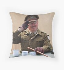 """You Stupid Boy"" (Captain Mannering - Dads Army) Throw Pillow"