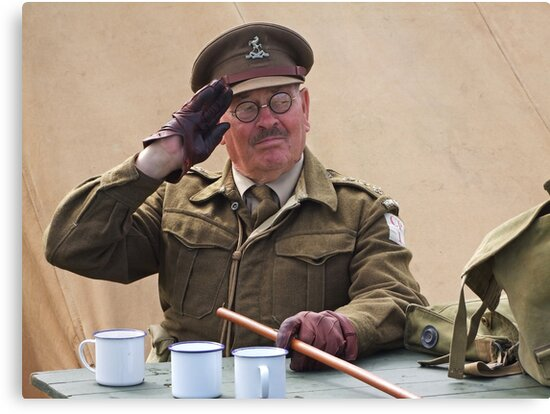 """""""You Stupid Boy"""" (Captain Mannering - Dads Army) by Colin  Williams Photography"""