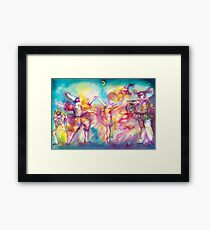 MASQUERADE PARTY,Mardi Gras Masks,Dance,Music Framed Print