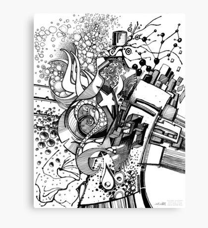 Arbitrary Milestones - Sketch Pen & Ink Illustration Canvas Print