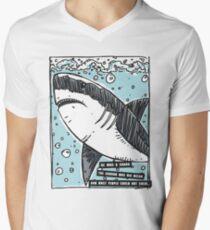 BJJ Shark Men's V-Neck T-Shirt