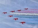 Ohhhh Look ! Red White And Blue Smoke !! by Colin  Williams Photography