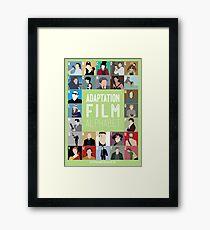 Adaptation Film Alphabet Framed Print