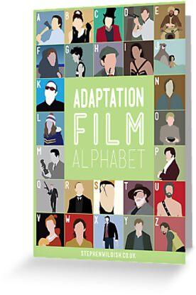 Adaptation Film Alphabet by Stephen Wildish