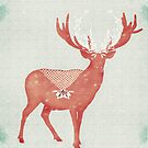 Christmas Stag by Sybille Sterk