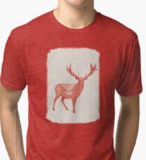 Christmas Stag Tri-blend T-Shirt
