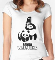 Panda Fight Women's Fitted Scoop T-Shirt