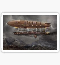 Steampunk - Blimp - Airship Maximus  Sticker