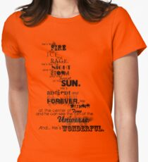 He's Wonderful! Womens Fitted T-Shirt