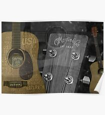 Martin and Co Guitars Poster