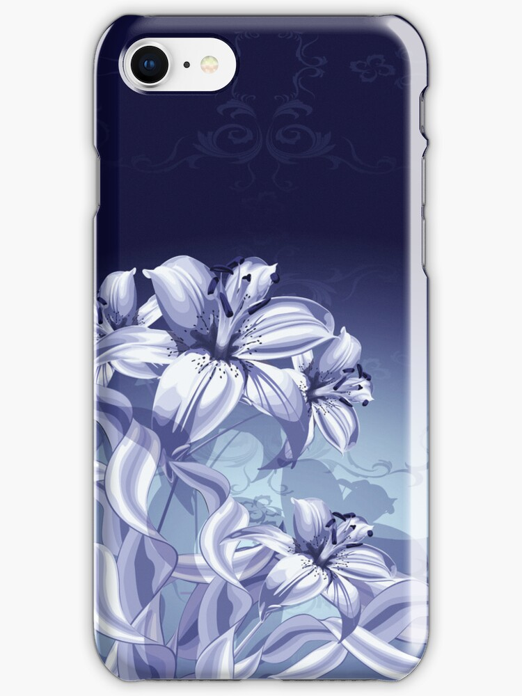 Blue Orchid iPod / iPhone 4  / iPhone 5 Case  / Samsung Galaxy Cases  by CroDesign