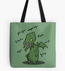 The call of the Cthulhu Tote Bag