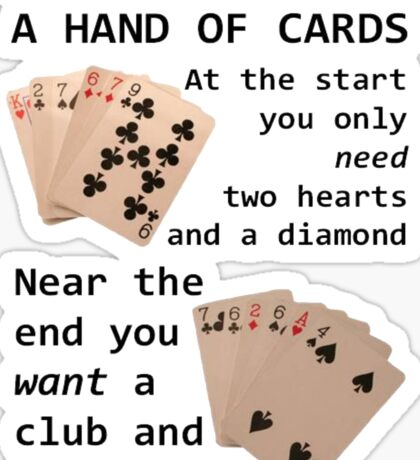 Hearts, Diamonds, Spades and Clubs Sticker