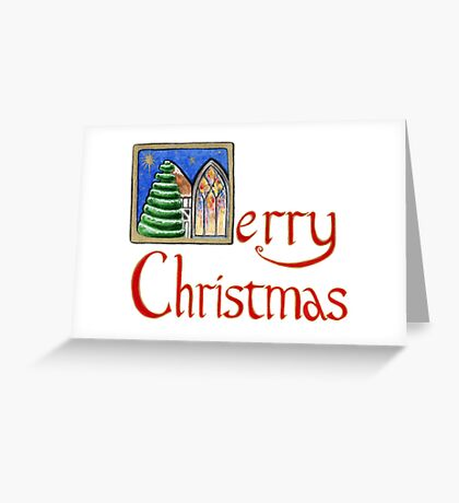 Village Christmas ~ Happy Holidays! Greeting Card
