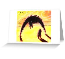 Confrontation at Sunset. Greeting Card