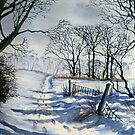 Winter Path to Dane's Dyke by Glenn Marshall