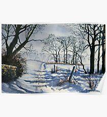 Winter Path to Dane's Dyke Poster