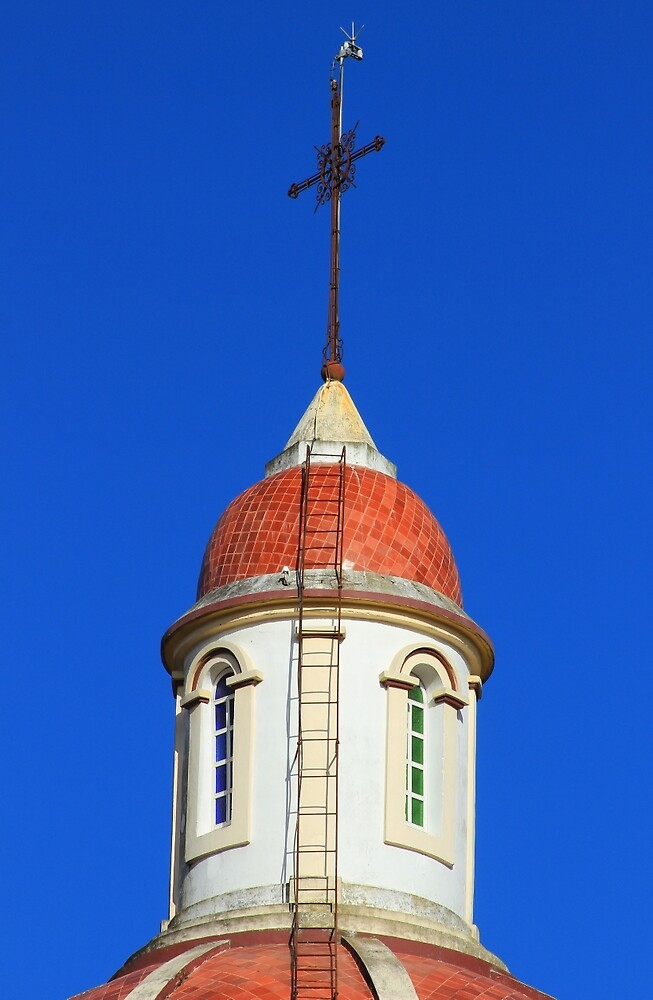 Dome and Cross on a Church by rhamm