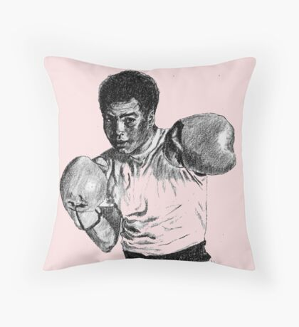 Boxing Champ M. Ali. Rumble in the Jungle Throw Pillow