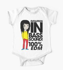 Evolution In Bass Sound 100% (black) One Piece - Short Sleeve