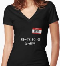 Death Note Name Tag Women's Fitted V-Neck T-Shirt