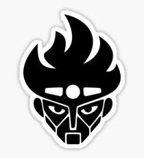 Jojo - Star Platinum Icon (Variant 1, Black) Sticker