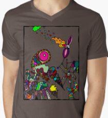 Coloured Rain Mens V-Neck T-Shirt
