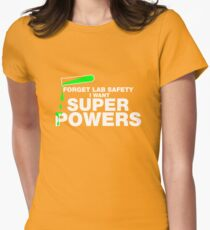Funny Lab Safety T-shirt Womens Fitted T-Shirt