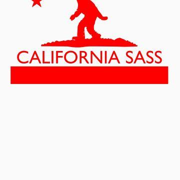 California Sass (Red) by StatusWhoa