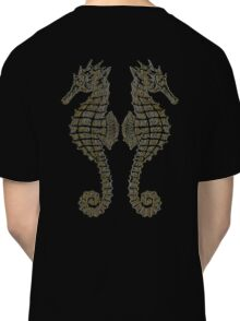 Vintage Tribal Sea Horses Classic T-Shirt
