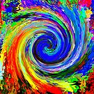 Paint Swirls by David Schroeder