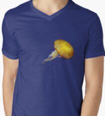 Electric Jellyfish T-Shirt American Apparel Men's V-Neck T-Shirt