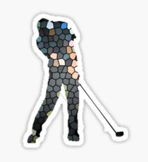 Tiger Woods Fragmented Glass T-Shirt Design  Sticker