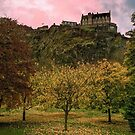 Edinburgh Castle in Autumn by David Alexander Elder