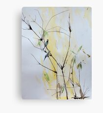 Finches in Bamboo Canvas Print