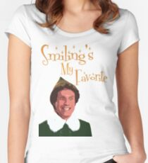 Buddy The Elf - Smiling's My Favorite Women's Fitted Scoop T-Shirt