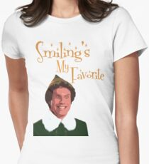 Buddy The Elf - Smiling's My Favorite Women's Fitted T-Shirt