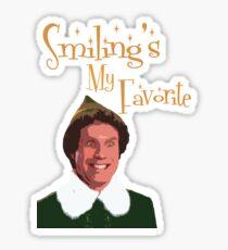 Buddy The Elf - Smiling's My Favorite Sticker