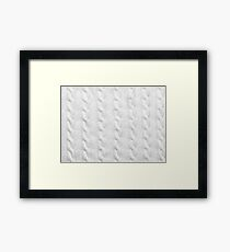 Cable Knit Pattern Framed Print