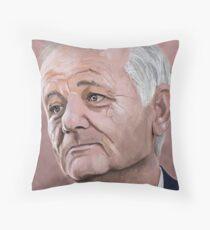 Bill Murray digital Portrait Throw Pillow