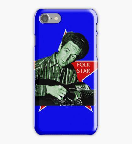Woody Guthrie, Folk Star (Sm) iPhone Case/Skin