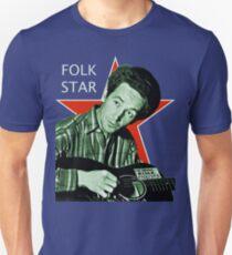 Woody Guthrie, Folk Star (Lg) Unisex T-Shirt